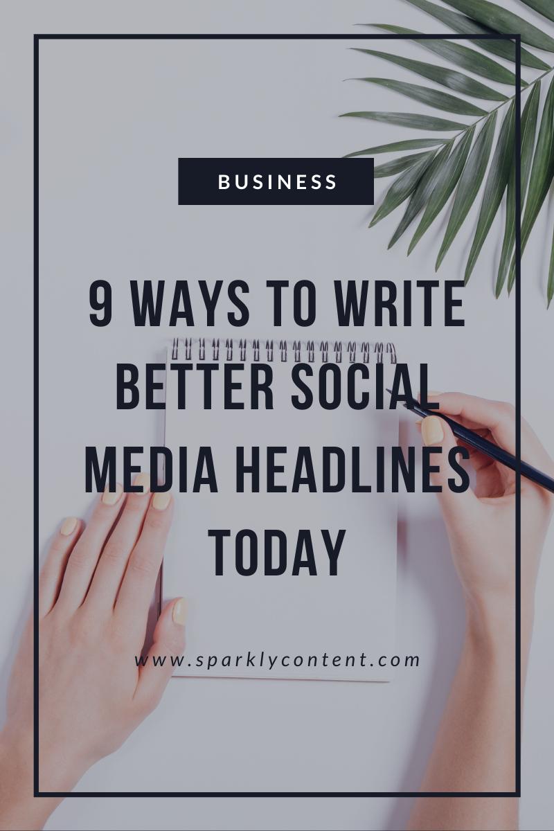 write better social media headlines